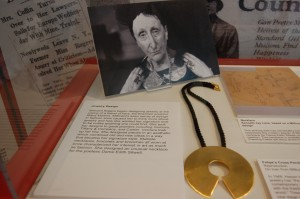 Necklace Designed for Edith Sitwell on display at Planting Fields Arboretum