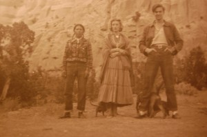 Millicent Rogers with friends in Taos