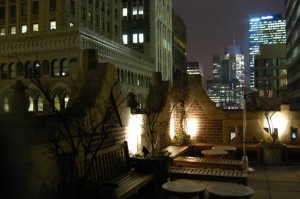 Rooftop bar at Bookmarks Lounge