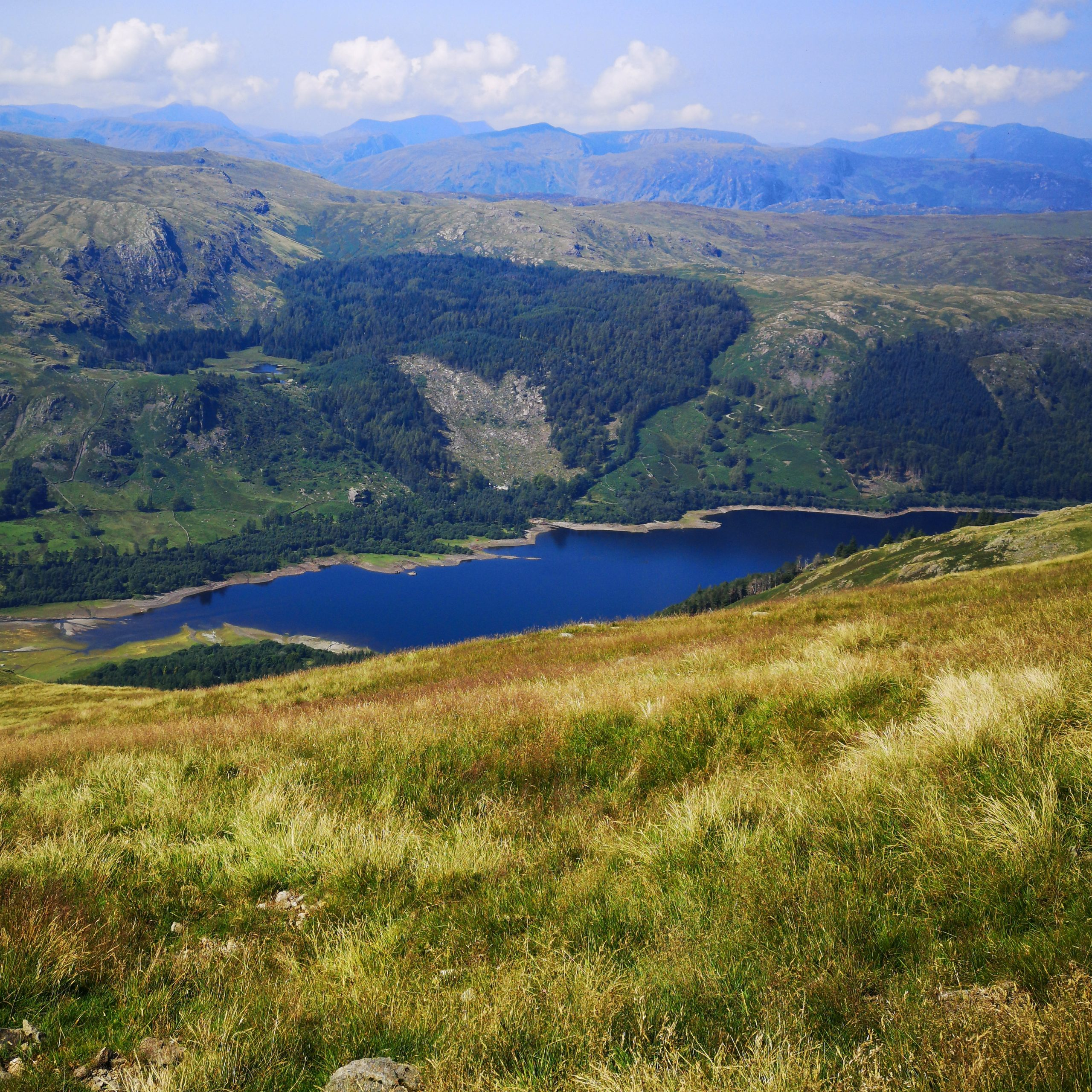 View from the summit at Helvellyn