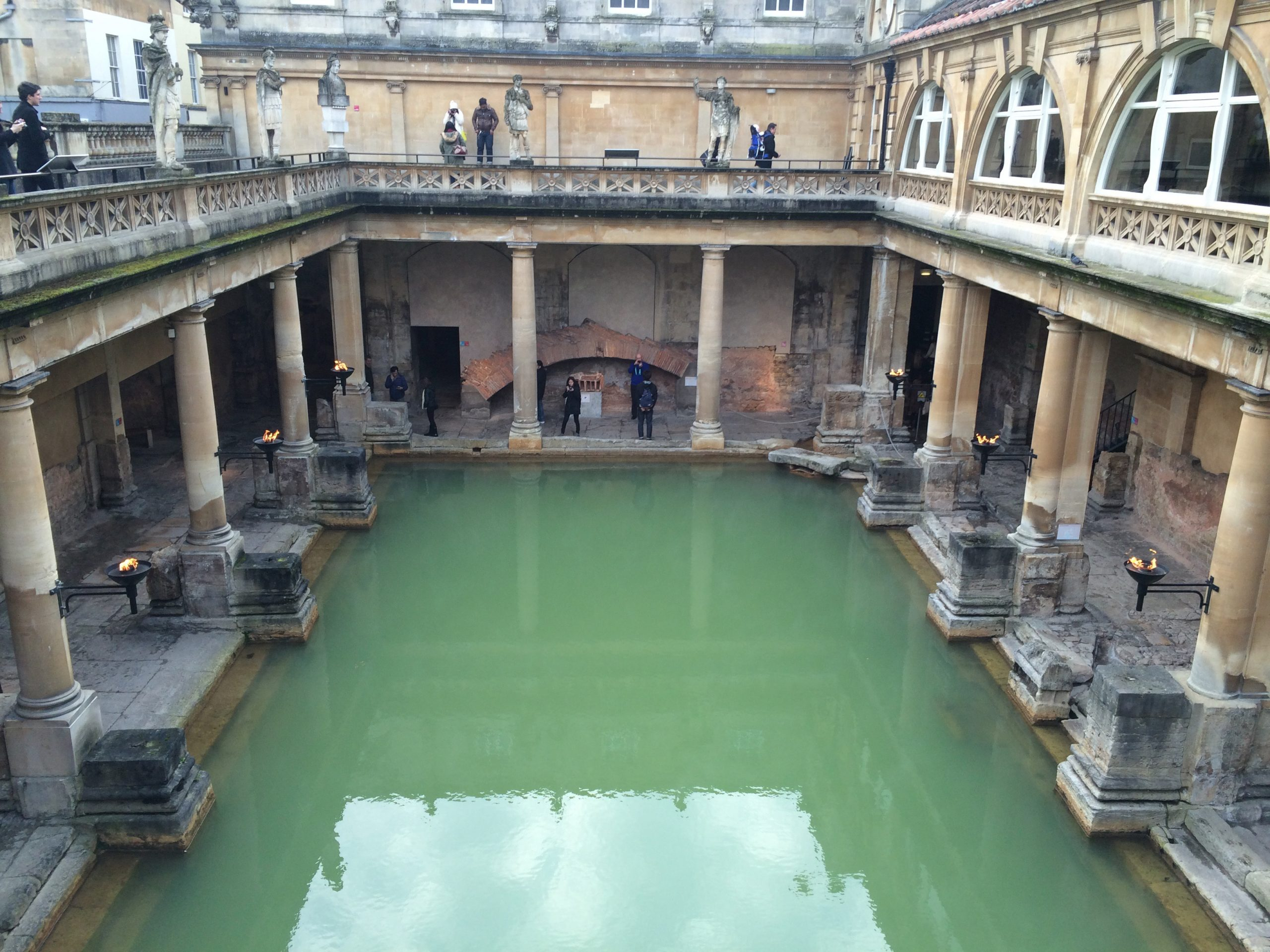 View from the Roman Roof at the Roman Baths